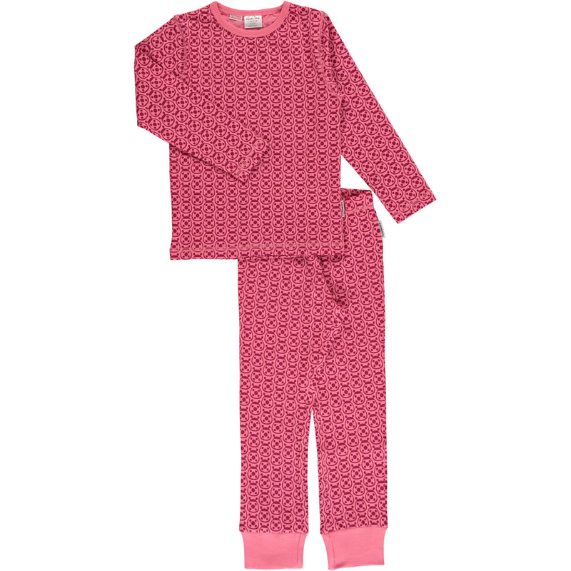 Maxomorra Ladybug Print Long Sleeve Pyjamas Set