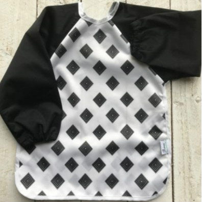 Rúna Baby Black Diamond Long Sleeve Feeding Bib