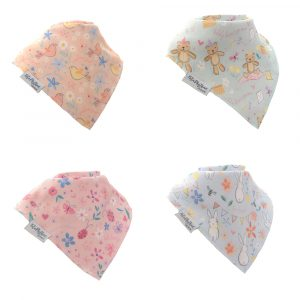 Ziggle Bandana Bibs Pastel Prints by Katie Phythian Designs