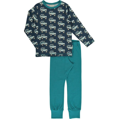 Maxomorra Jeep Adventure Print Long Sleeve Pyjamas Set