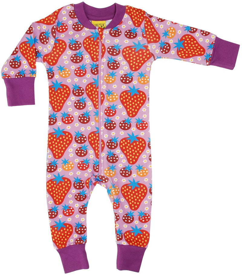 DUNS Strawberry Purple Zipsuit