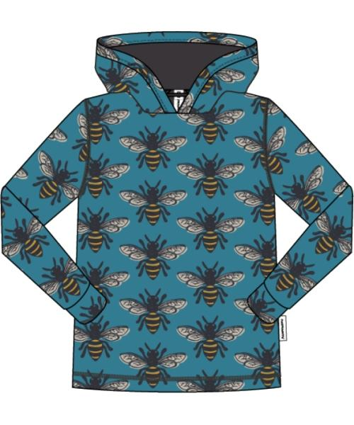 Maxomorra Bee Print Long Sleeve Hood Top