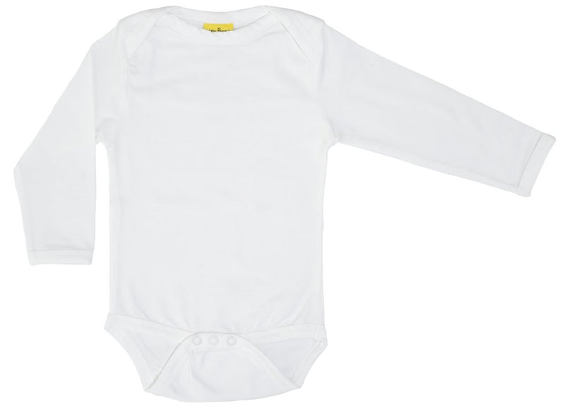 Long Sleeve White Organic Cotton Bodysuit