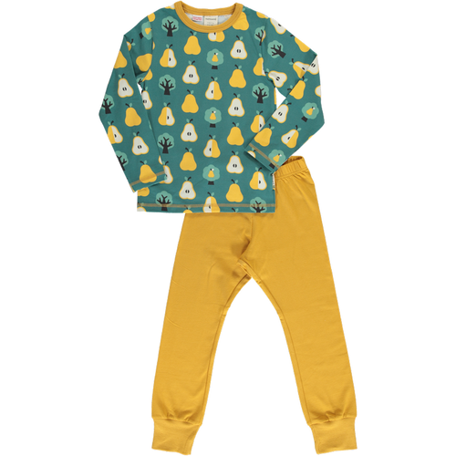Maxomorra Golden Pear Print Long Sleeve Pyjamas Set