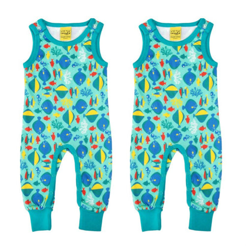 Fish Dungarees - Gift Set for Twins