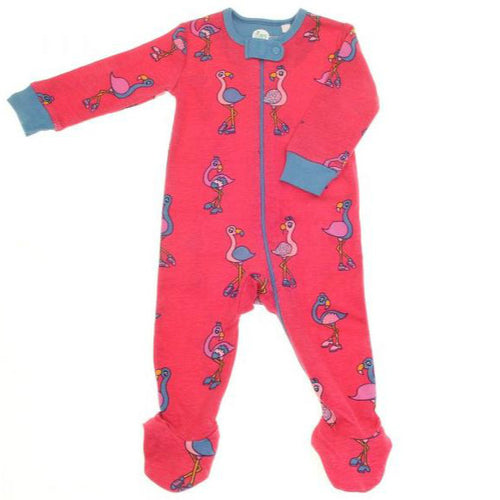 Zippy All-in-one Pink Flamingo Zip Babygrow