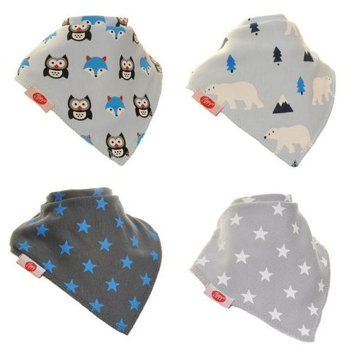 Zippy Baby Boys Bandana Dribble Bib 4 pack Arctic Animals