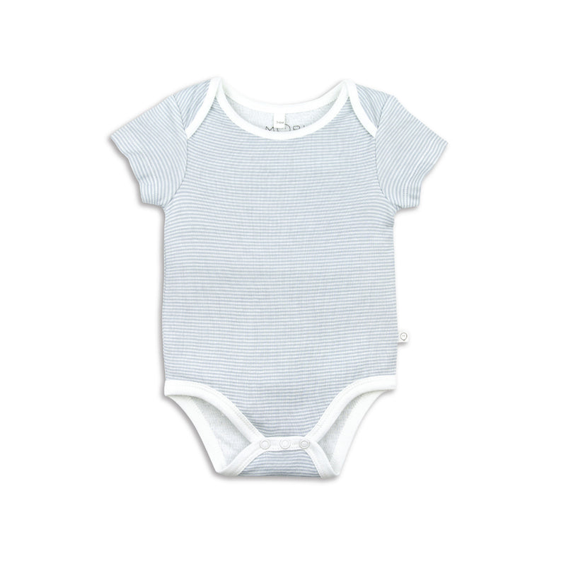Short Sleeve Blue Strip Bodysuit