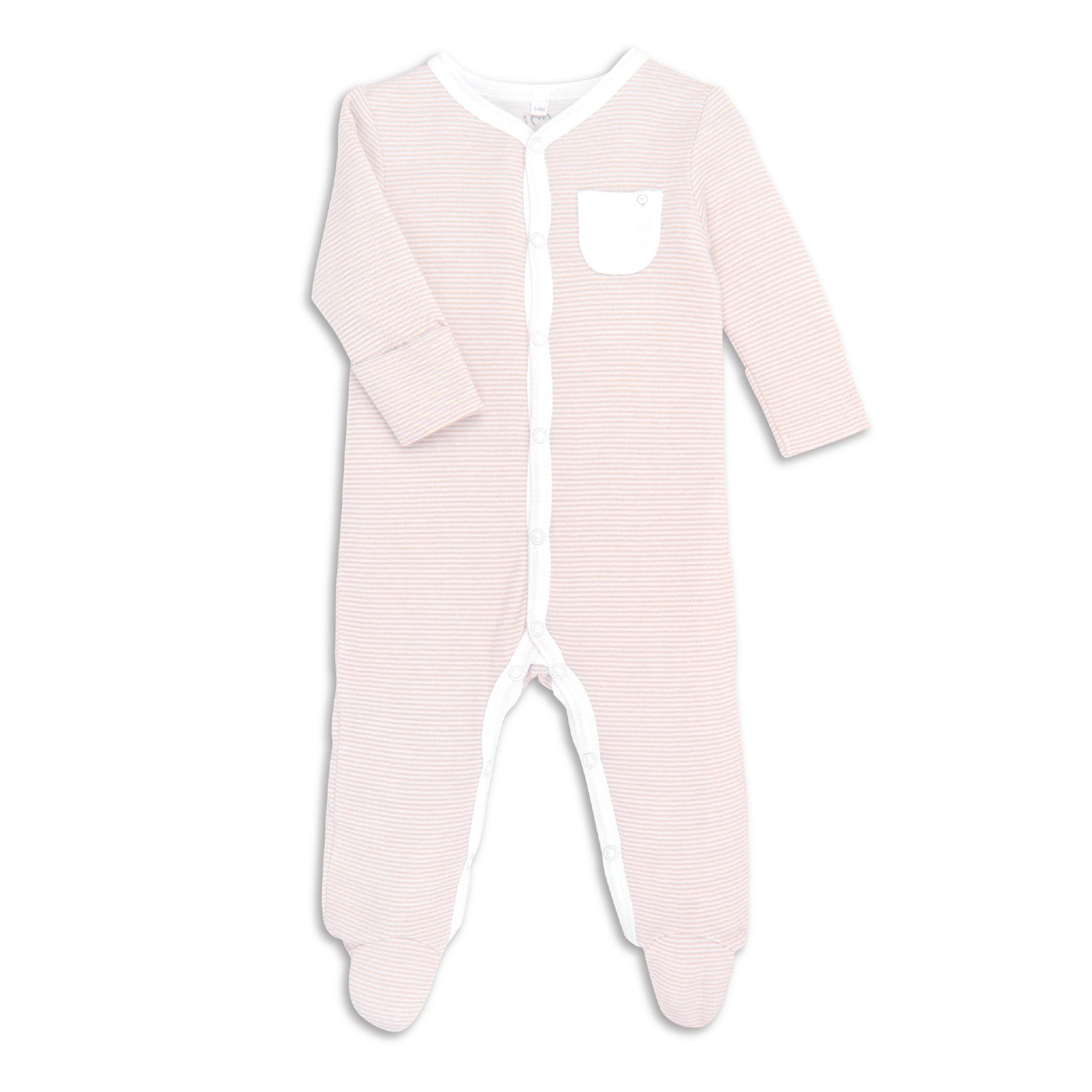 Blushed Striped Babygrow Buy baby MORI babygrows online in Ireland