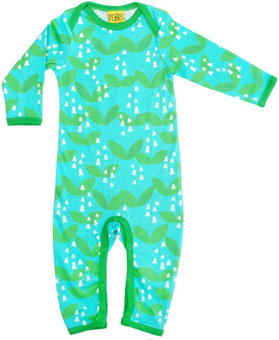 Lily of the valley buy Organic baby clothes Green babygrow