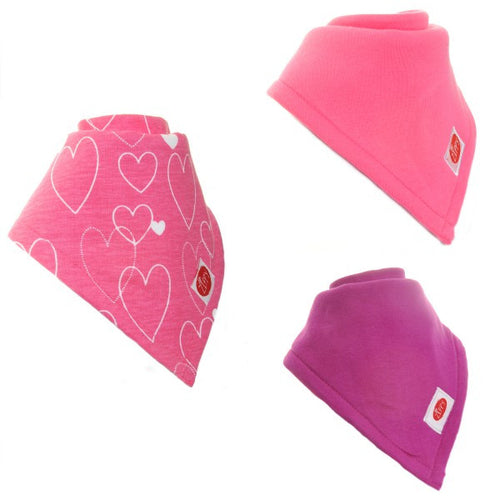 Zippy Baby Girl Super Absorbent Bandana Dribble Bib 3 pack Bright
