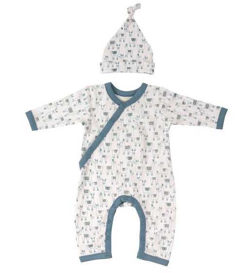 Llama Romper & Knotted Hat - Organic Cotton Gift Set