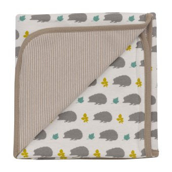 Reversible Hedgehog Taupe Blanket