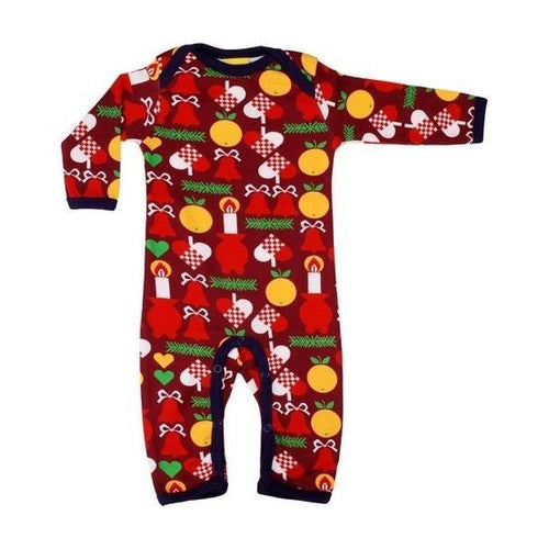 DUNS Organic Cotton Christmas Candle Babygrow - Romper