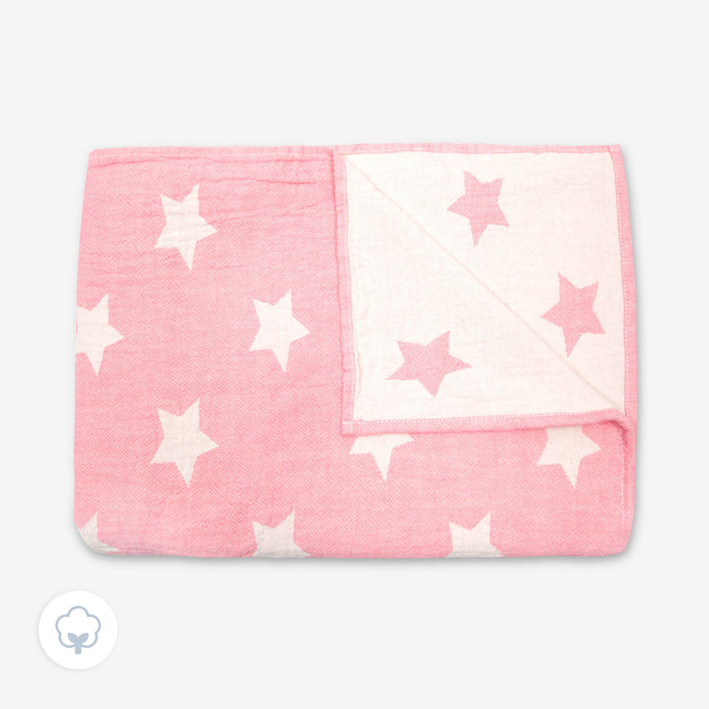 Large Pink Star Throw from baby MORI