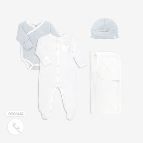 Welcome to the world baby gift set for boys