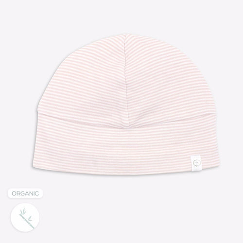 Blush Stripe Hat - Bamboo and Organic Cotton