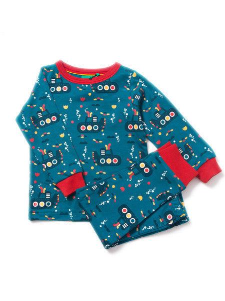 Under the Sea Submarine Pyjamas Blue Organic Fairtrade cotton PJ's from Little Green Radicals