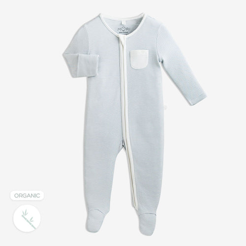 Blue Zip Sleep Suit