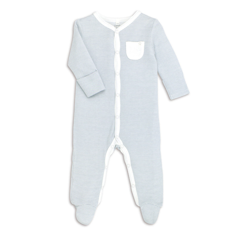 Luxury blue Babygrow Ireland Baby Mori