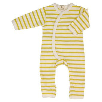 Yellow stripe Breton Babygrow Classic design and a perfect baby gift