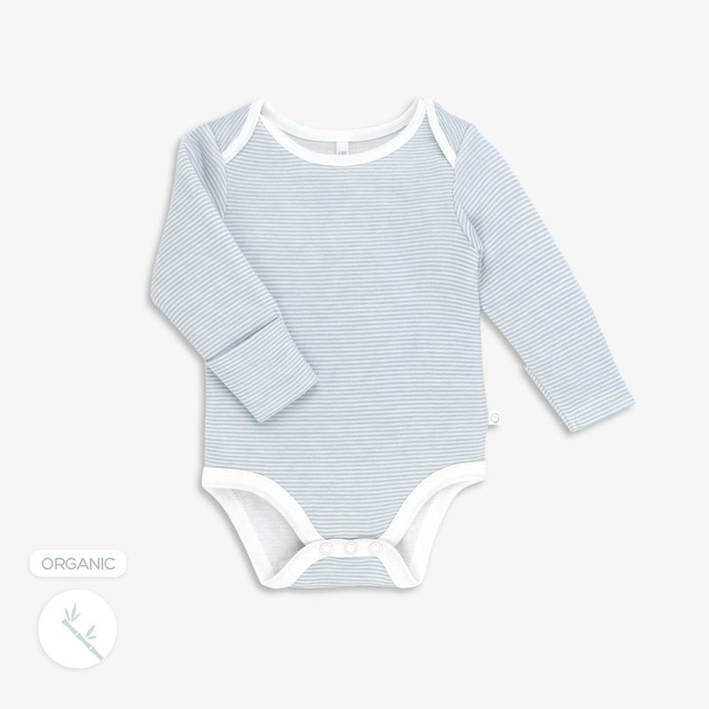 Long Sleeve Bodysuit in Blue Stripe