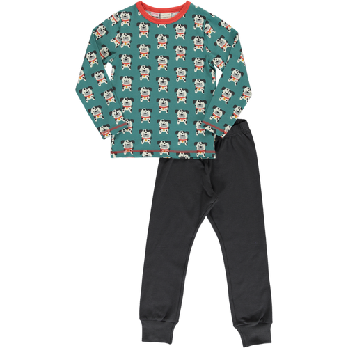 Maxomorra Dalmatian Buddy Print Long Sleeve Pyjamas Set
