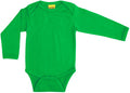 Long Sleeve Green Organic Cotton Bodysuit