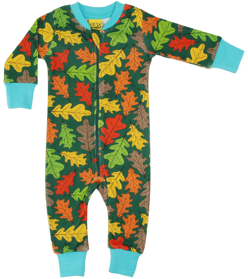 DUNS Oak Leaf Organic Cotton Zip Sleepsuit