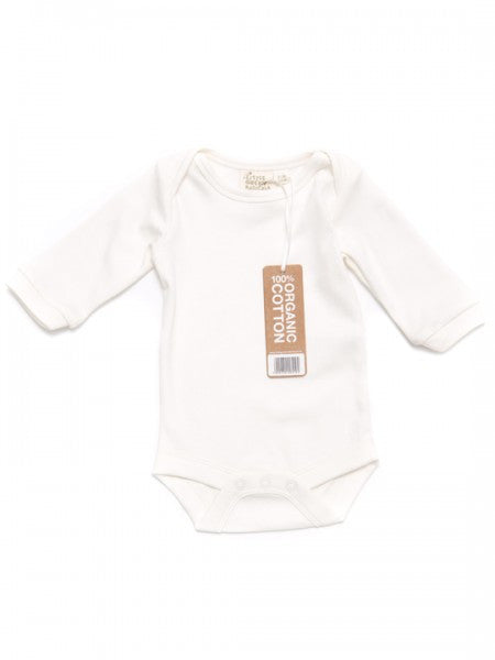 White Organic Long Sleeve Bodysuit