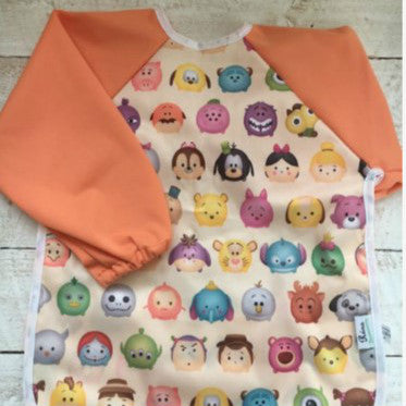 Rúna Baby Orange Long Sleeve Feeding Bib