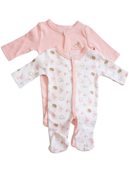 Baby Girl Cotton Sleepsuit Set (Premature Baby 2 Sleepsuits)