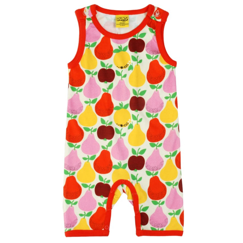 DUNS Summer Fruits Print Organic Cotton Summer Dungaree