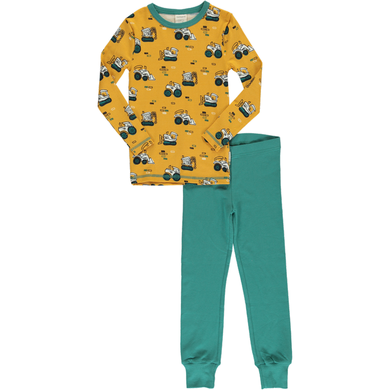 Maxomorra Brick Builders Print Long Sleeve Pyjamas Set