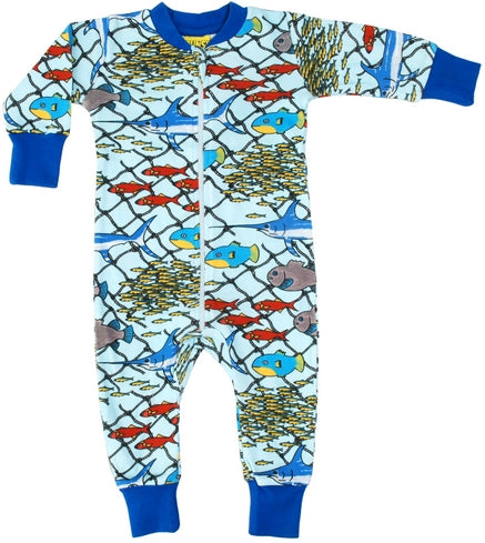 Escape at Sea Organic Cotton Zip Sleepsuit