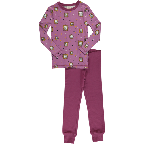 Maxomorra Famiy Album Print Long Sleeve Pyjamas Set