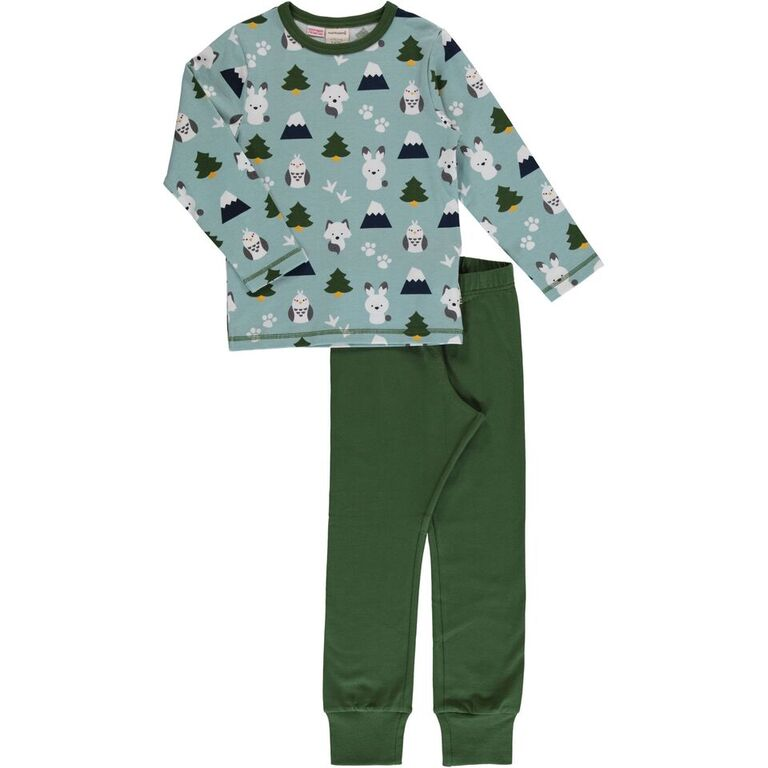 Maxomorra Winter World Print Long Sleeve Pyjamas