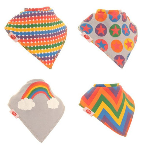 Zippy Baby Bandana Dribble Bib 4 pack Rainbow Colours