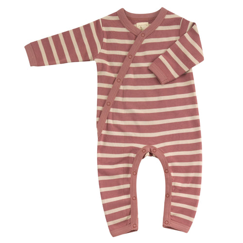 Organic Cotton Rose and Stone Stripe Romper