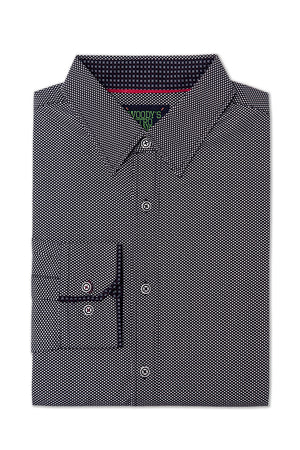Premium Menswear : Bremond Micro-Ring Printed Shirt - Shirts - Woody's Retro Lounge