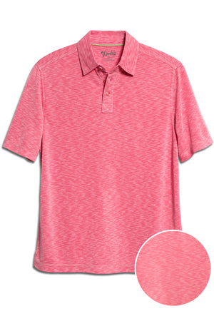 Premium Menswear : Mens Classic Fit Modal Polo Shirt - Magenta - Polos - Woody's Retro Lounge