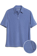 Premium Menswear : Mens Classic Fit Modal Polo Shirt - Blue - Polos - Woody's Retro Lounge