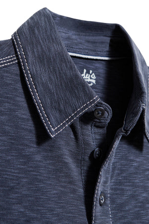 Premium Menswear : Mens Classic Fit Modal Polo Shirt - Navy - Polos - Woody's Retro Lounge