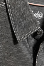 Premium Menswear : Mens Classic Fit Modal Polo Shirt - Charcoal - Polos - Woody's Retro Lounge