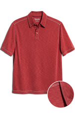 Premium Menswear : Mens Classic Fit Modal Polo Shirt - Dark Red - Polos - Woody's Retro Lounge