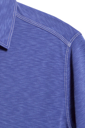 Premium Menswear : Mens Classic Fit Modal Polo Shirt - Royal - Polos - Woody's Retro Lounge
