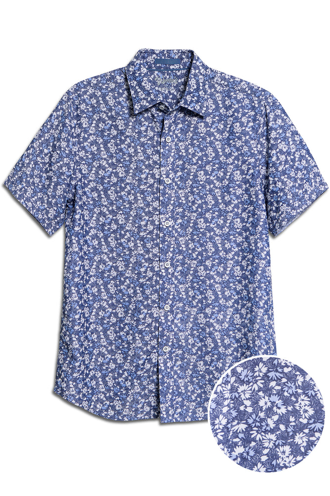 Woody/'s Retro Lounge Shirt with Tropical Prints