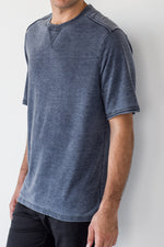 Premium Menswear : Idalou Vintage-washed Short Sleeve T-Shirt - T-Shirts - Woody's Retro Lounge