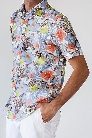 Premium Menswear : Boldtvile Garden Tropical / Hawaiian Shirt - Shirts - Woody's Retro Lounge