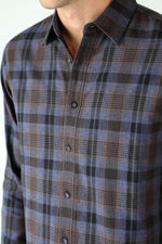 Premium Menswear : Mahl Double-Layer Plaid Shirt - Shirts - Woody's Retro Lounge